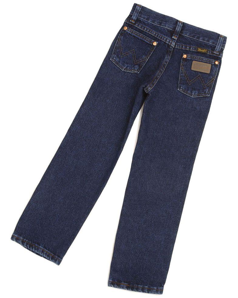 Wrangler Boys' ProRodeo Jeans Size 8-16, Dark Indigo, hi-res