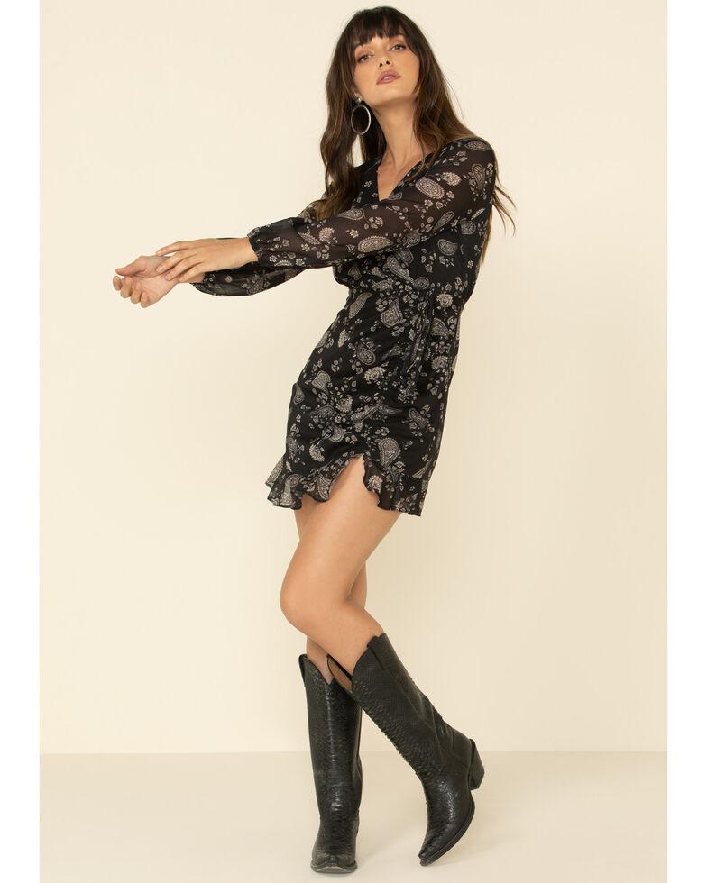 Sadie & Sage Women's Paisley Dress, Black, hi-res