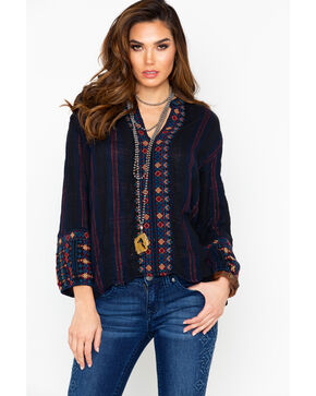 Johnny Was Women's Vika Paris Effortless Blouse, Multi, hi-res