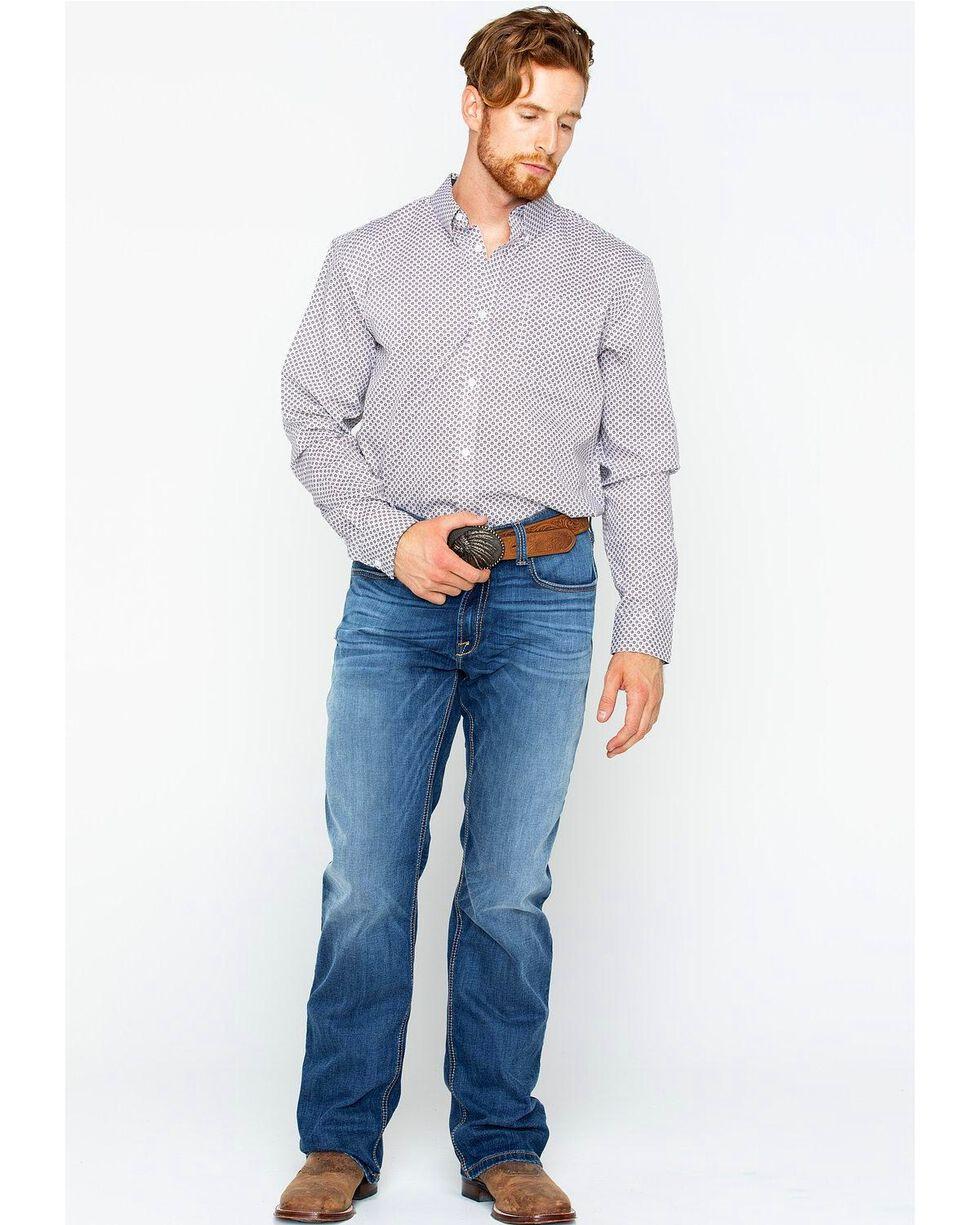 Cody James Men's Ramp Floral Long Sleeve Shirt , White, hi-res