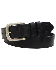 Danbury Men's Black Strap Work Belt - Big , Black, hi-res