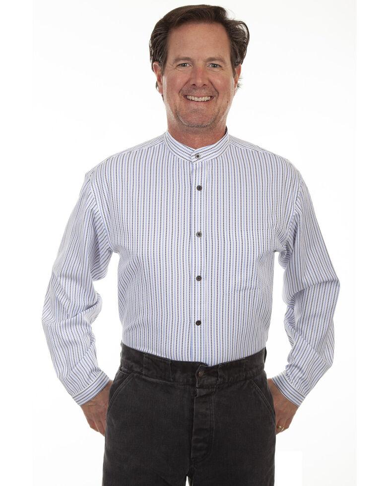 Rangewear by Scully Men's Stripe Long Sleeve Shirt, Blue, hi-res