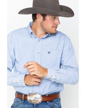 Ariat Men's Striped Long Sleeve Shirt, Blue, hi-res