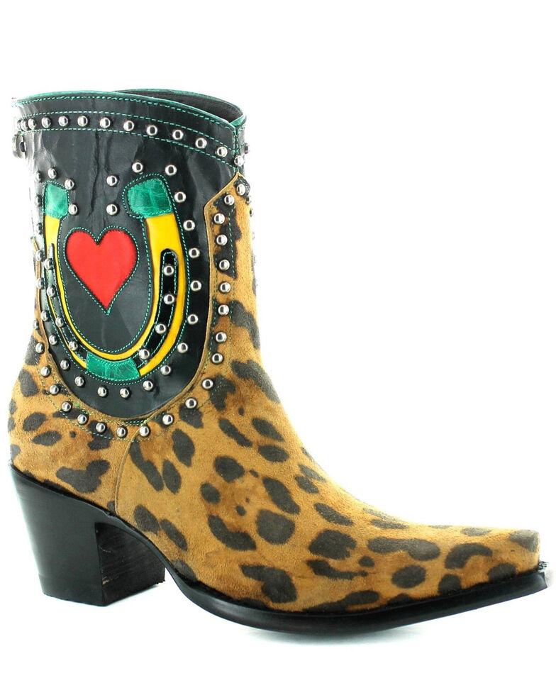 Old Gringo Women's Jungle Jim Fashion Booties - Snip Toe, Leopard, hi-res
