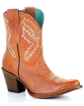 Corral Women's Cognac Embroidered Boots - Snip Toe, Cognac, hi-res