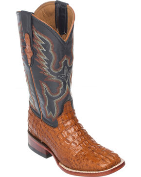 Ferrini Women's Hornback Caiman Crocodile Western Boots, Cognac, hi-res