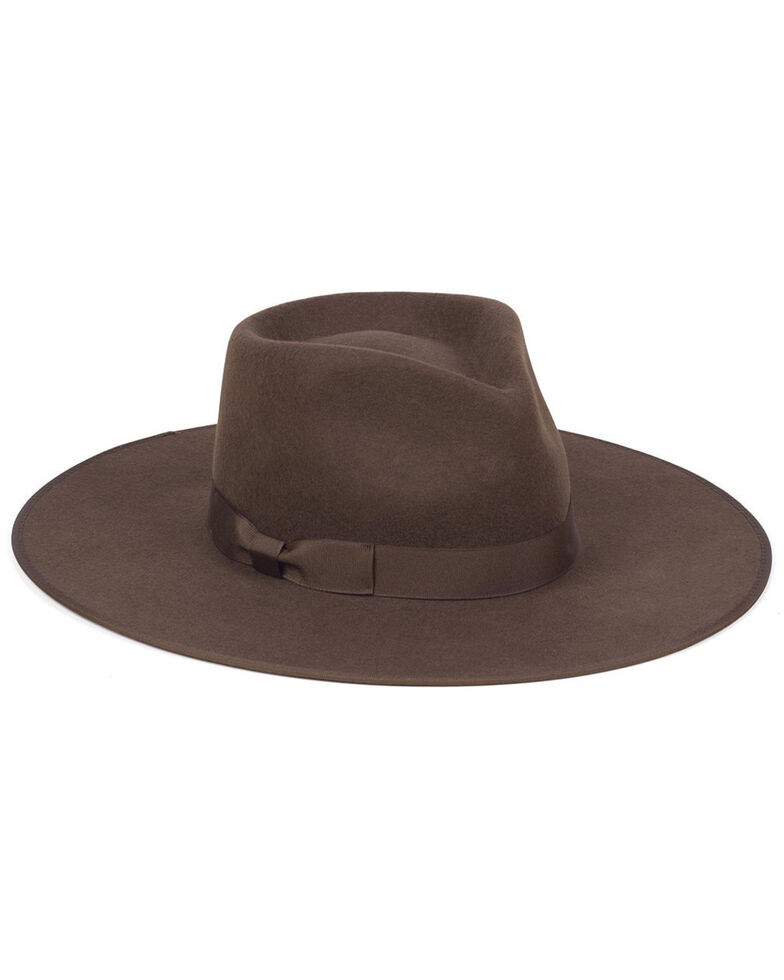 Lack Of Color Women's Coco Rancher Western Wool Fedora Hat , Dark Brown, hi-res