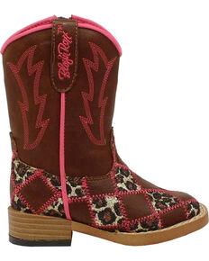 Blazin Roxx Toddler Girls' Miley Patchwork Boots - Square Toe, Brown, hi-res