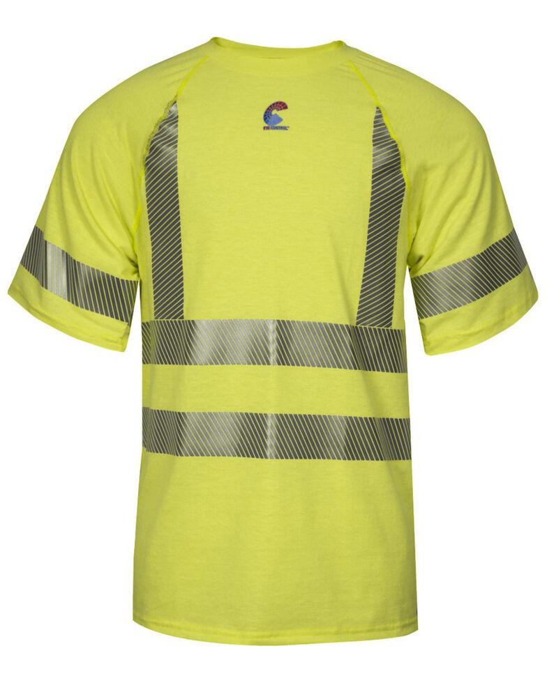 National Safety Apparel Men's Hi-Vis FR Control CL3 Baselayer Short Sleeve Shirt, Bright Yellow, hi-res