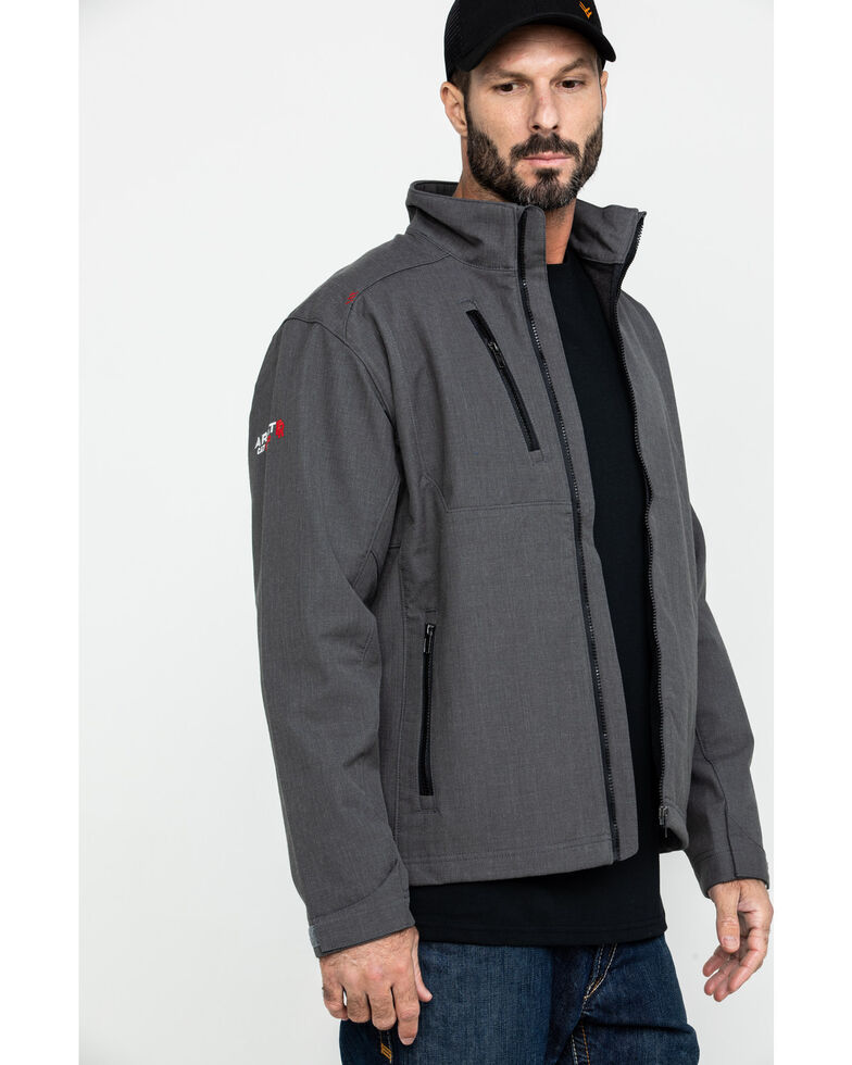 Ariat Men's FR Team Logo Work Jacket , Grey, hi-res