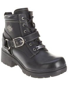 Harley Davidson Women's Tegan Motorcycle Boot, Black, hi-res
