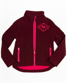 Shyanne Girls' Softshell Jacket, Burgundy, hi-res