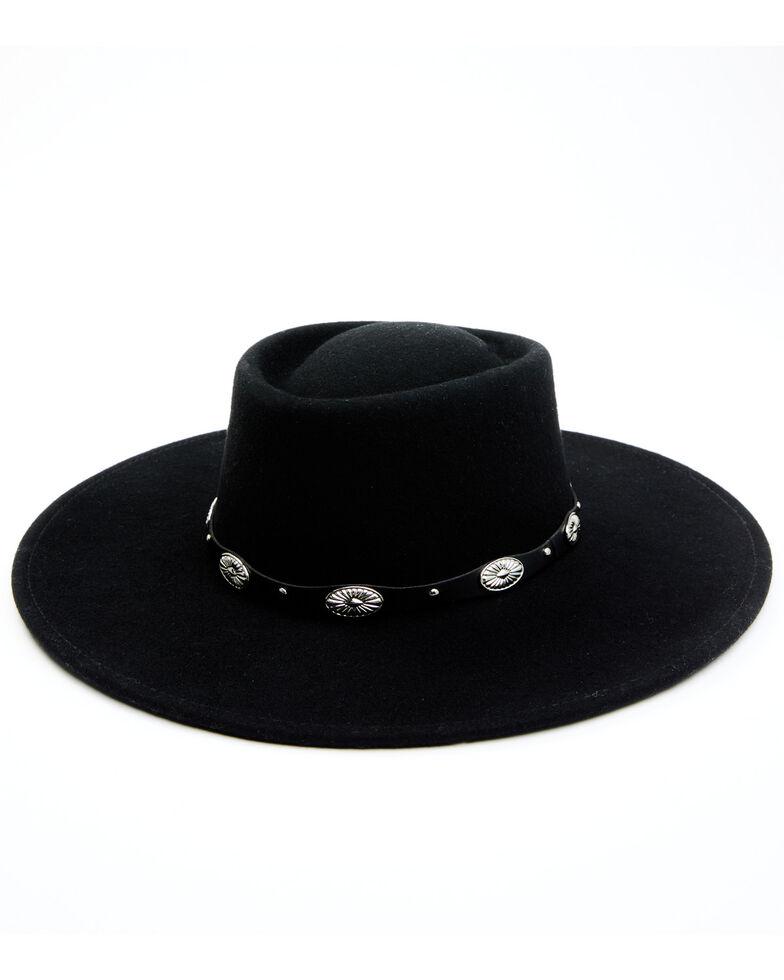Idyllwind Women's Midnight Stars Concho Hat , Black, hi-res