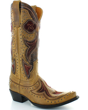 Old Gringo Women's Granby Cowgirl Boots - Snip Toe , Tan, hi-res