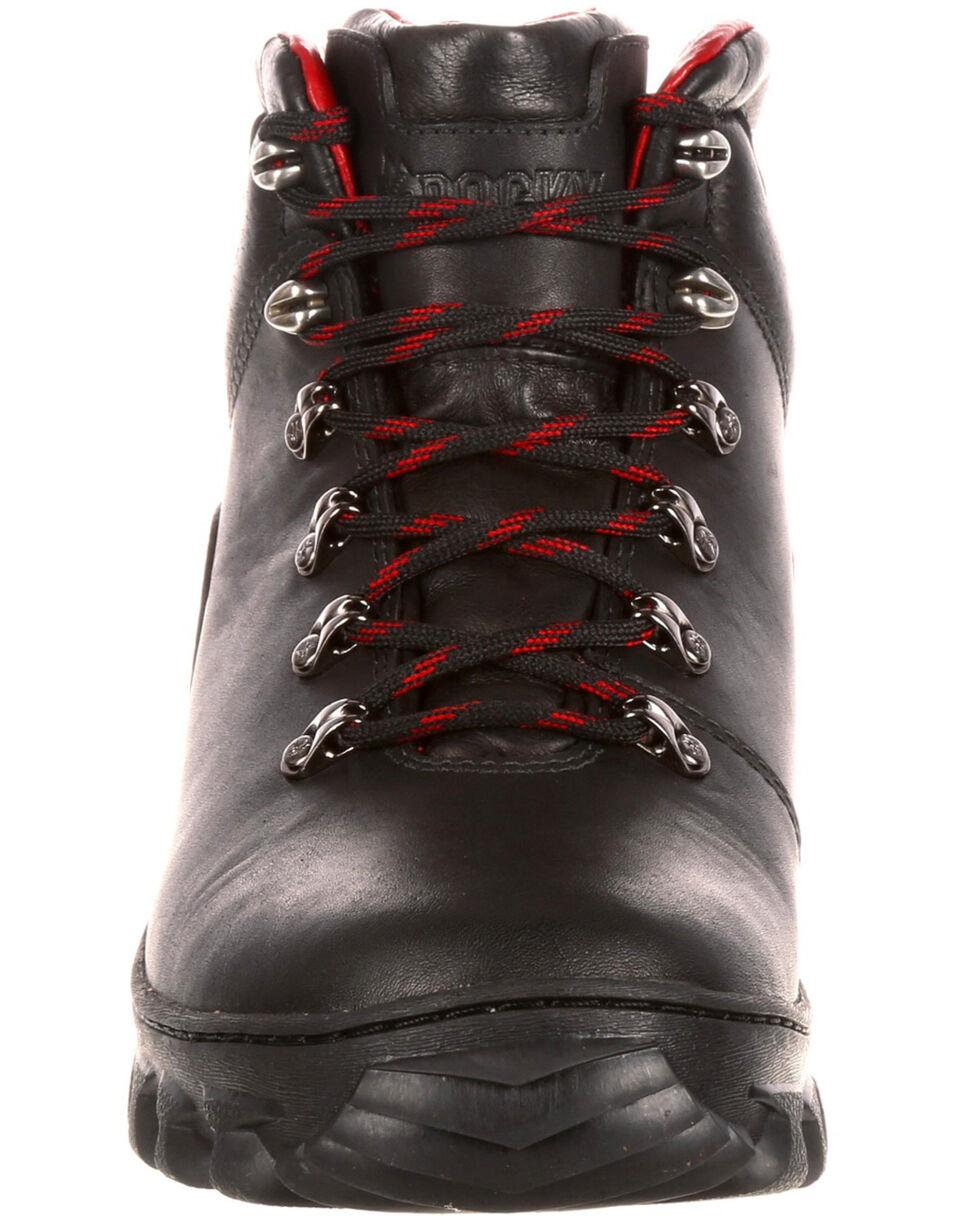 Rocky Men's Jungle Hunter Waterproof Hiker Boots - Round Toe, Black, hi-res