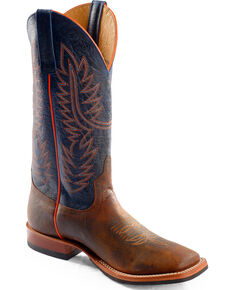 Horse Power Men's Bison Western Boots - Square Toe, Toast, hi-res