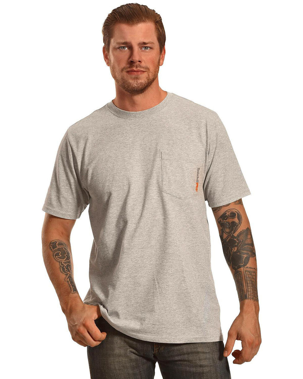 Timberland Men's Base Plate Blended Short Sleeve Work T-Shirt- Big & Tall , Heather Grey, hi-res
