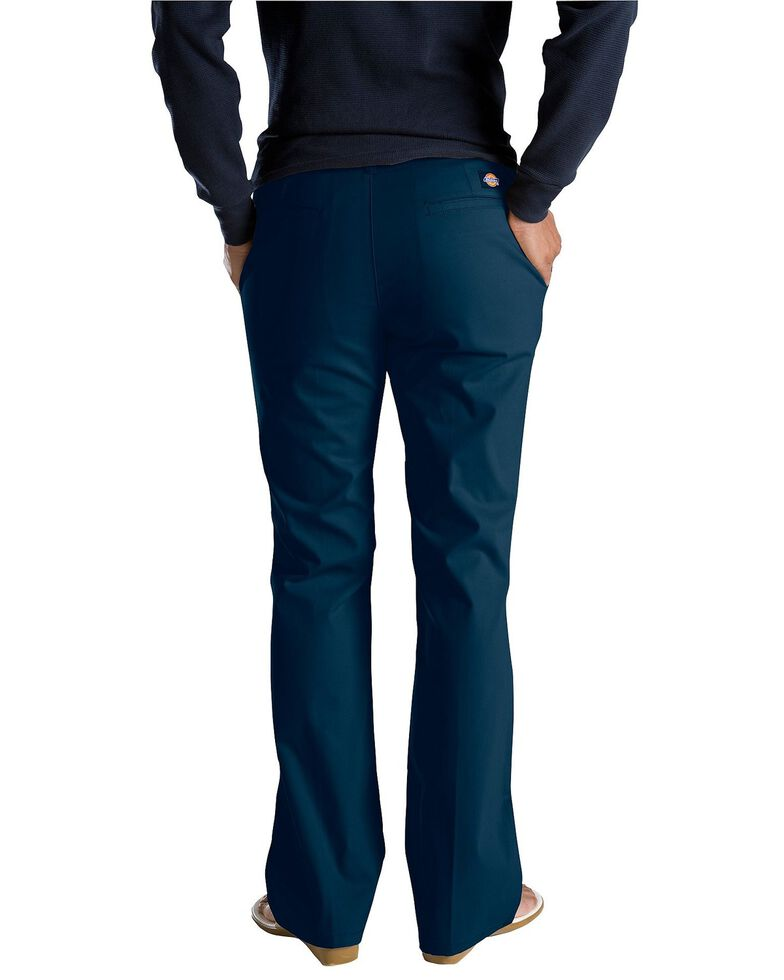 Dickies Women's Flat Front Stretch Twill Pants, Navy, hi-res