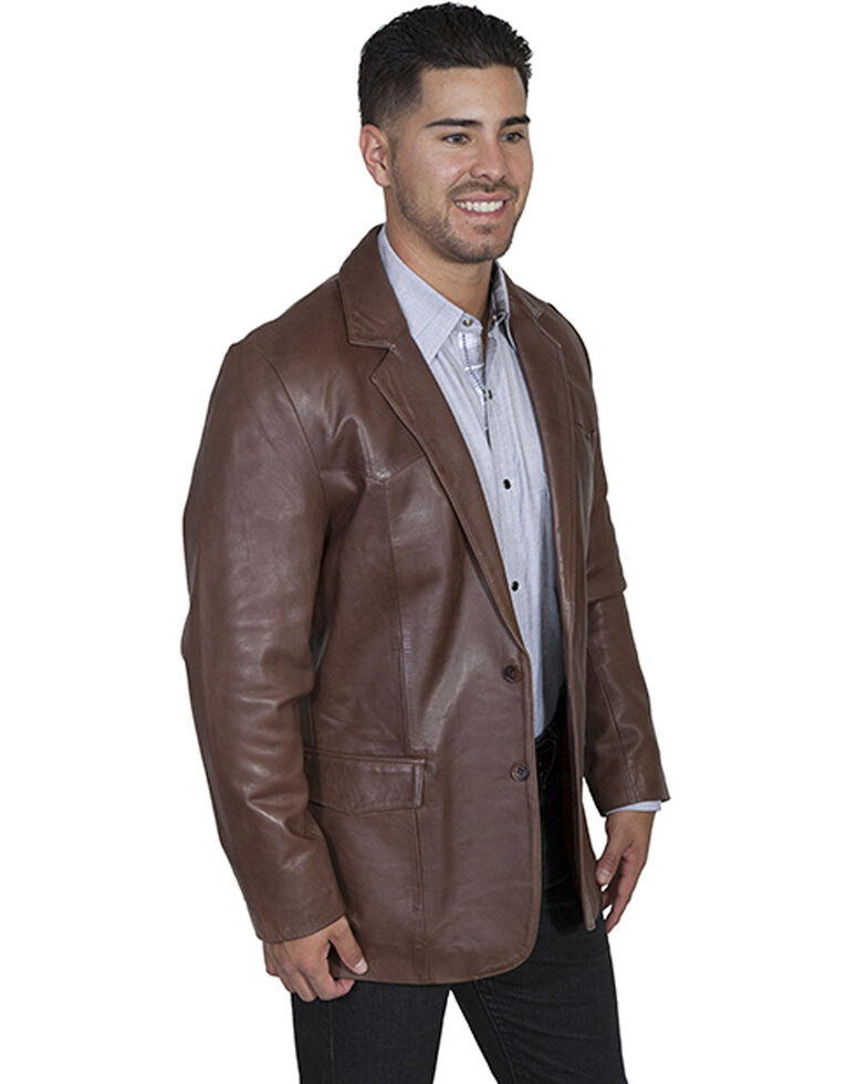 Scully Lamb Leather Blazer - Big, Chocolate, hi-res