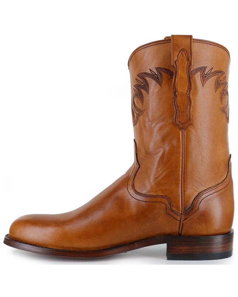 El Dorado Men's Embroidered Round Toe Western Boots, Tan, hi-res