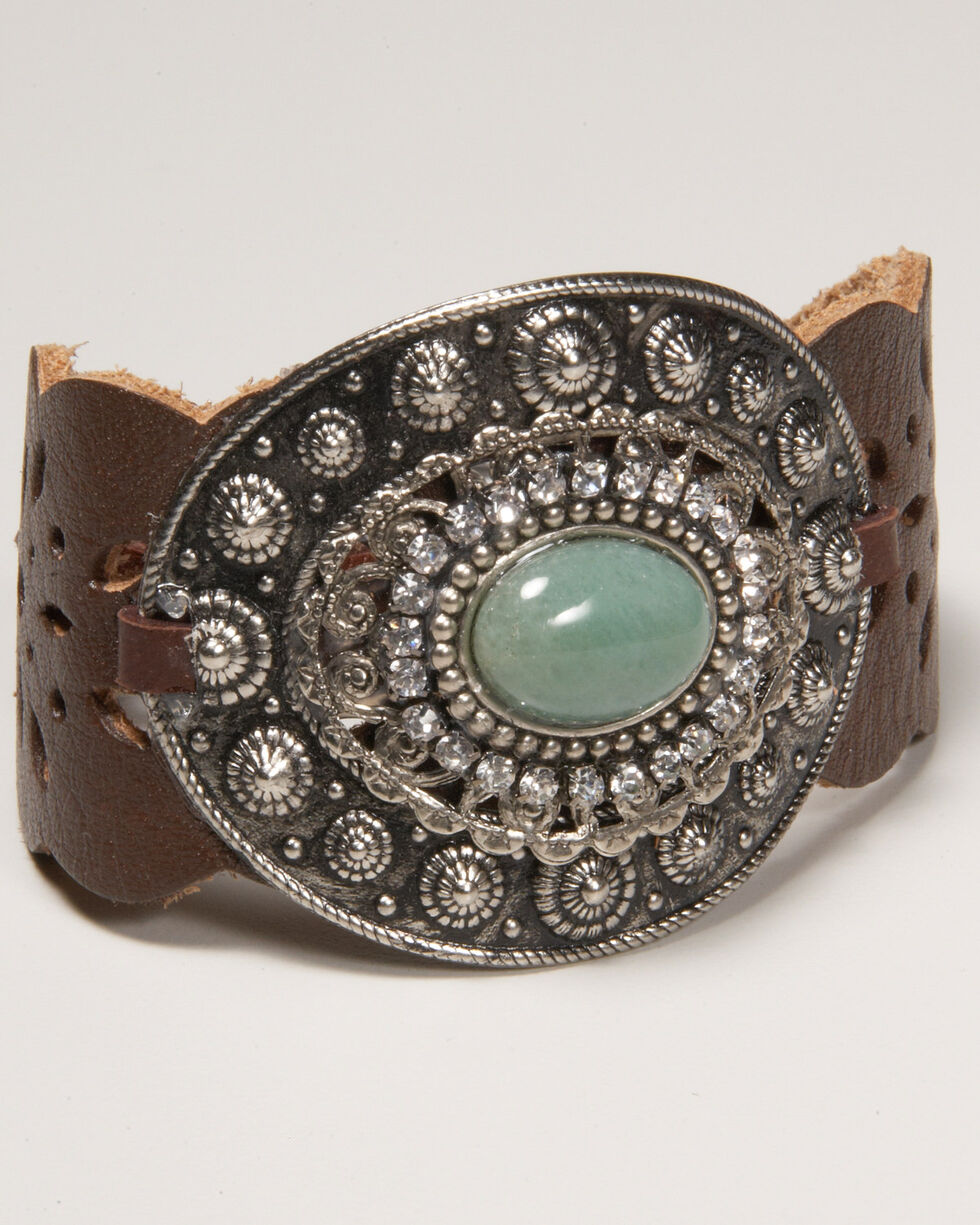 Cowgirl Confetti Women's Shielded by Strength Cuff, Brown, hi-res