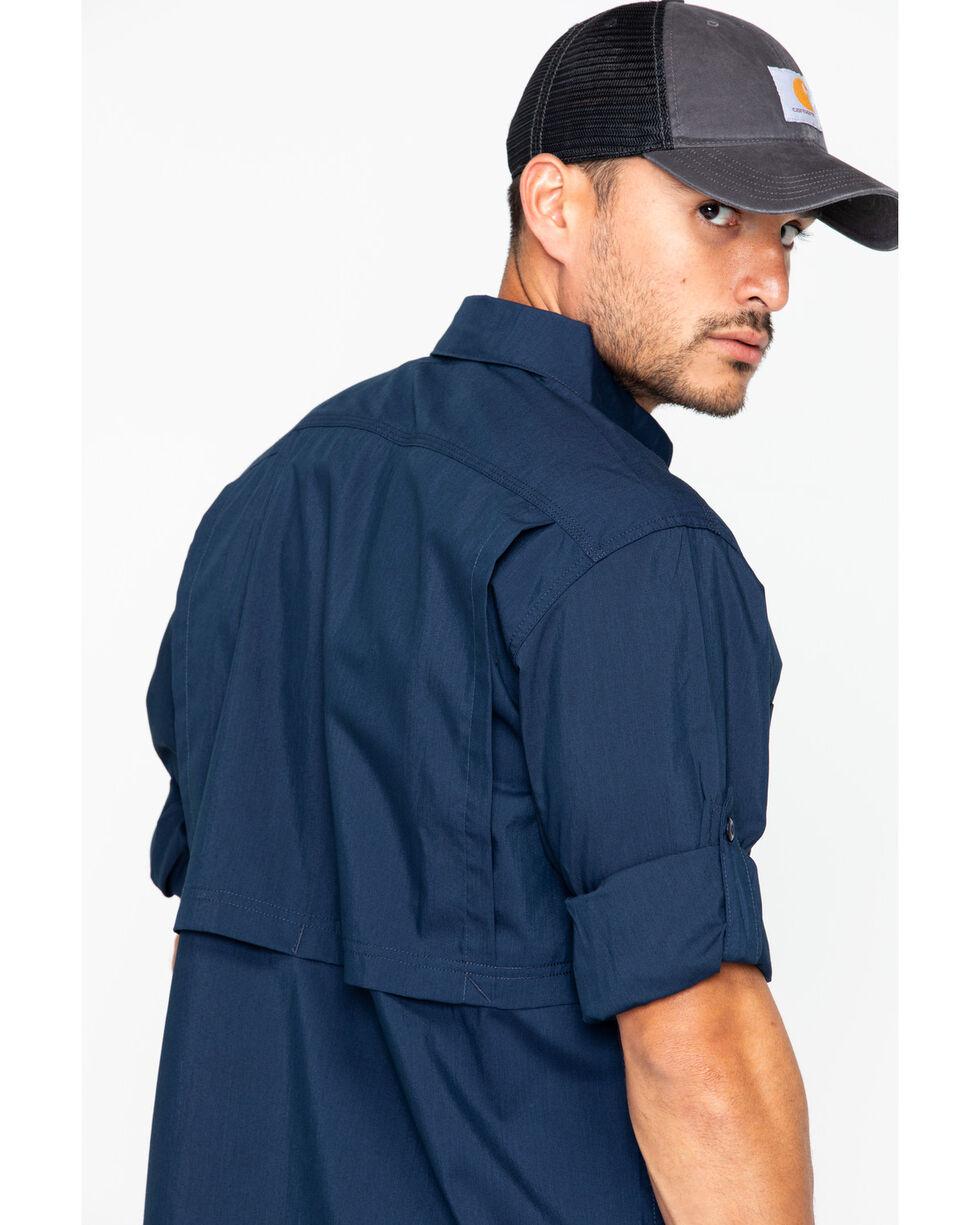 Carhartt Men's Force Ridgefield Work Shirt , Navy, hi-res