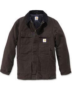 Carhartt Men's Sandstone Traditional Arctic Quilt Lined Coat, Brown, hi-res