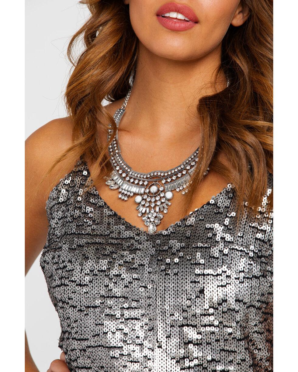 Ariat Women's Sequin Chiffon Rocker Dress , Gold, hi-res