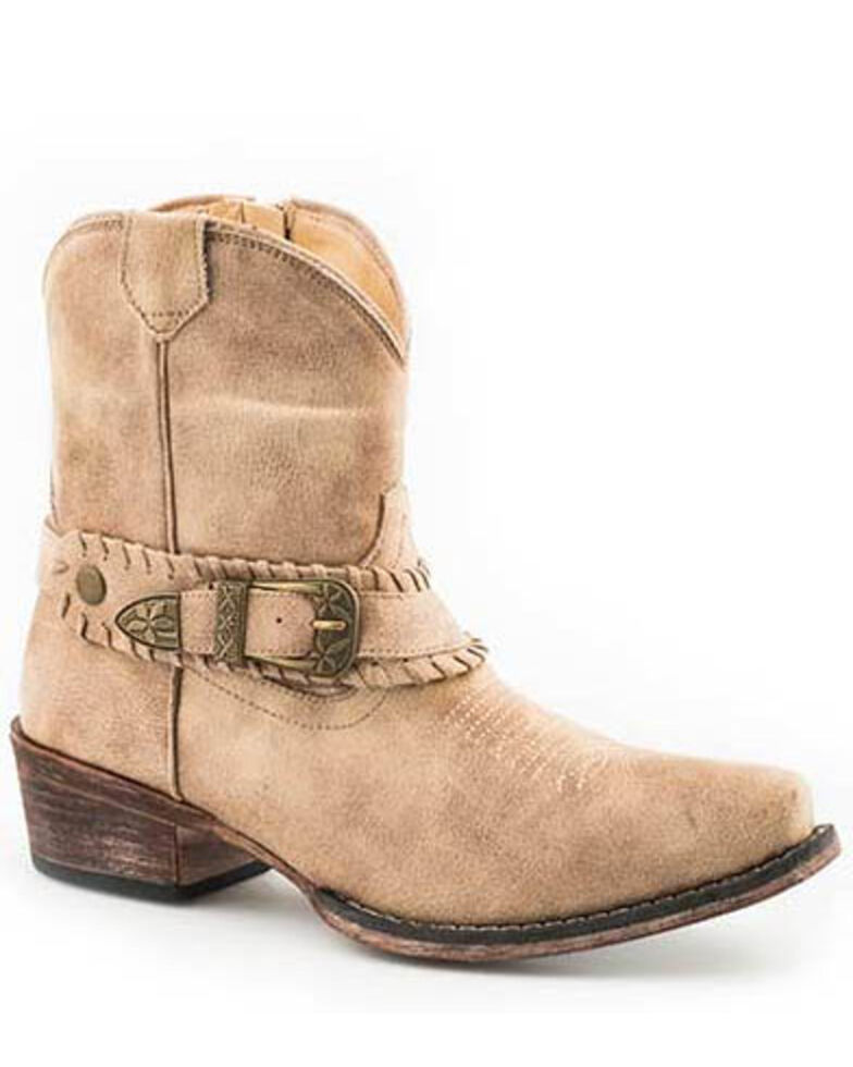 Roper Women's Nelly Fashion Booties - Snip Toe, Tan, hi-res