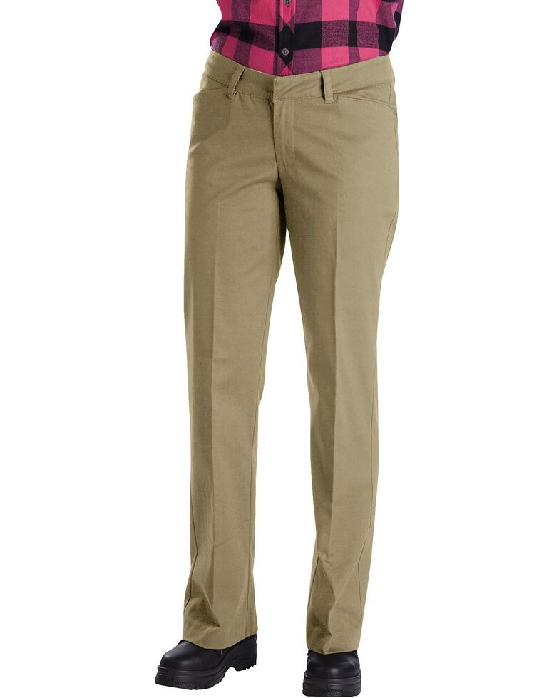 Dickies Women's Relaxed Stretch Twill Pants, Khaki, hi-res