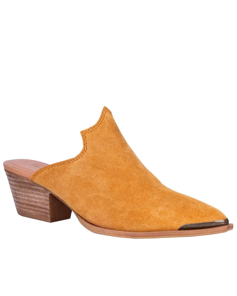 Dingo Women's Mustard Knockout Fashion Mules - Snip Toe, Mustard, hi-res