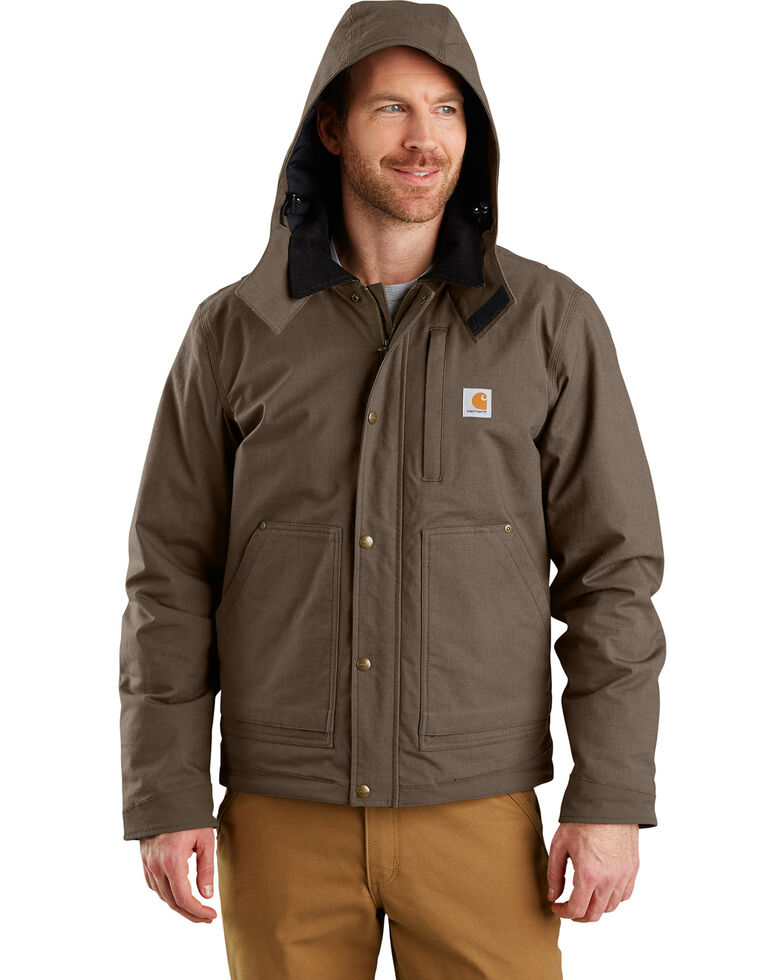 Carhartt Men's Full Swing Steel Work Jacket, Dark Grey, hi-res