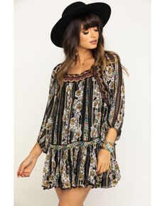 Free People Women's Dance The Magic Tunic, Black, hi-res