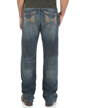 Rock 47 by Wrangler Men's Relaxed Fit Boot Cut Jeans, Indigo, hi-res
