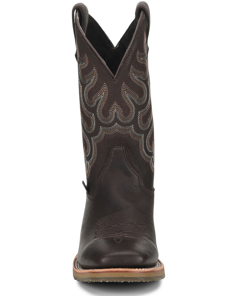 Double H Men's Dark Brown Elk Western Boots - Wide Square Toe, Chocolate, hi-res