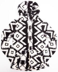 Shyanne Girls' Aztec Polar Fleece Zip Up Hoodie, , hi-res