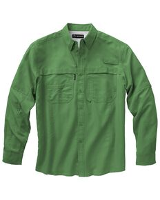 Dri Duck Men's Catch Long Sleeve Woven Work Shirt, Green, hi-res