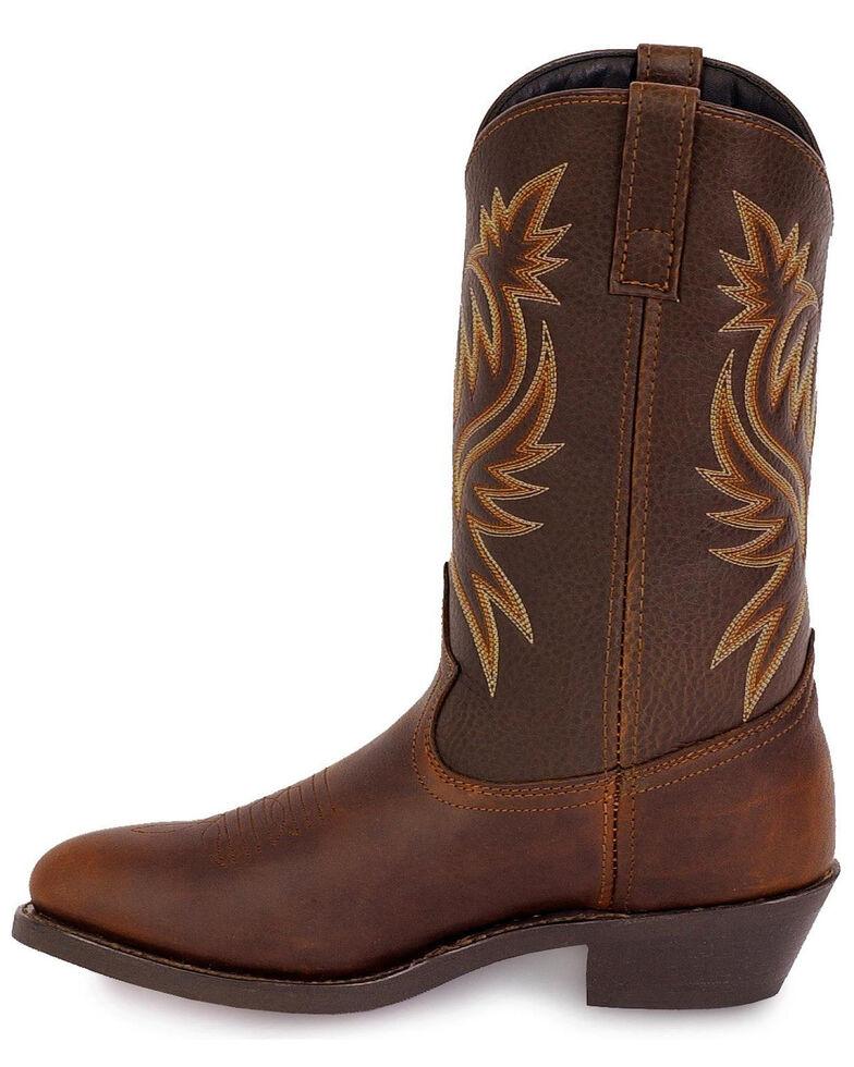 Laredo Men's Paris Western Boots - Round Toe, Dark Brown, hi-res