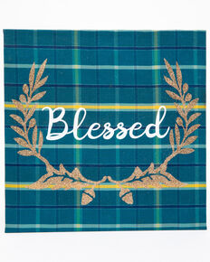 BB Ranch Blessed Wall Art, Teal, hi-res