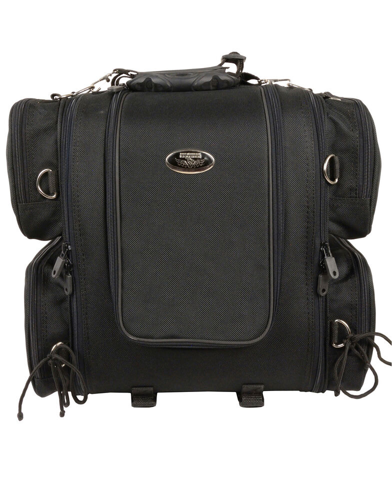 Milwaukee Leather Adjustable Sissy Bar Bag, Black, hi-res