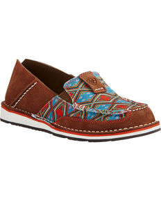 Ariat Women's Aztec Print Cruiser Slip-on Shoes, Tan, hi-res