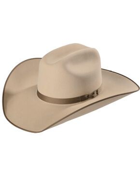 Serratelli Men's Tan 6X Fur Felt Western Hat, Tan, hi-res