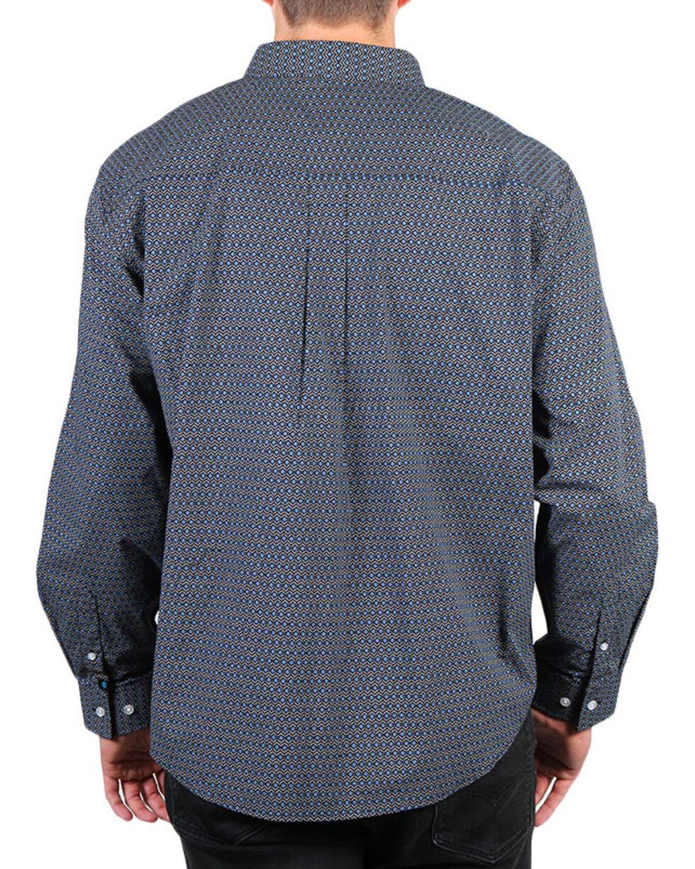 Cody James Men's Mountain Sky Long Sleeve Button Down Shirt - Big & Tall, Black, hi-res