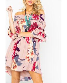 2ed1d17ed5a Shyanne Women s Smocked Shoulder Floral Dress