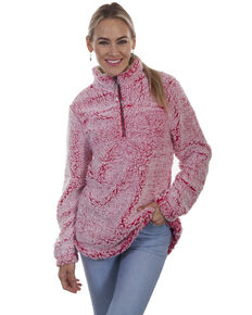 Honey Creek by Scully Women's Sherpa Pullover , Red, hi-res