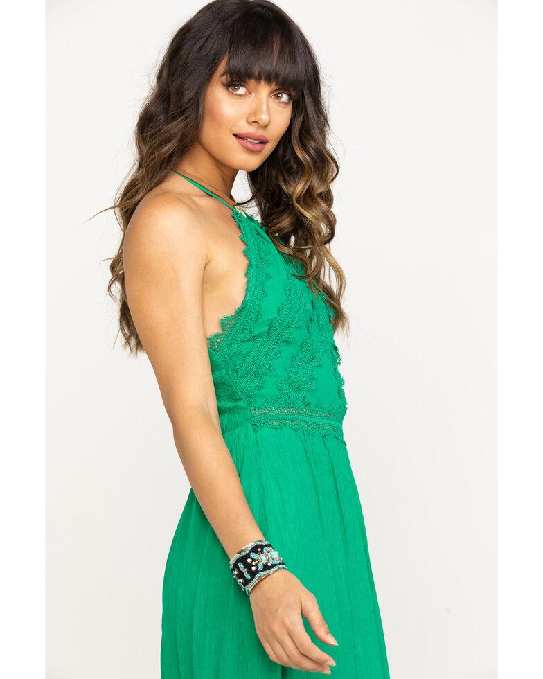Flying Tomato Women's Green Halter Maxi Dress, Green, hi-res