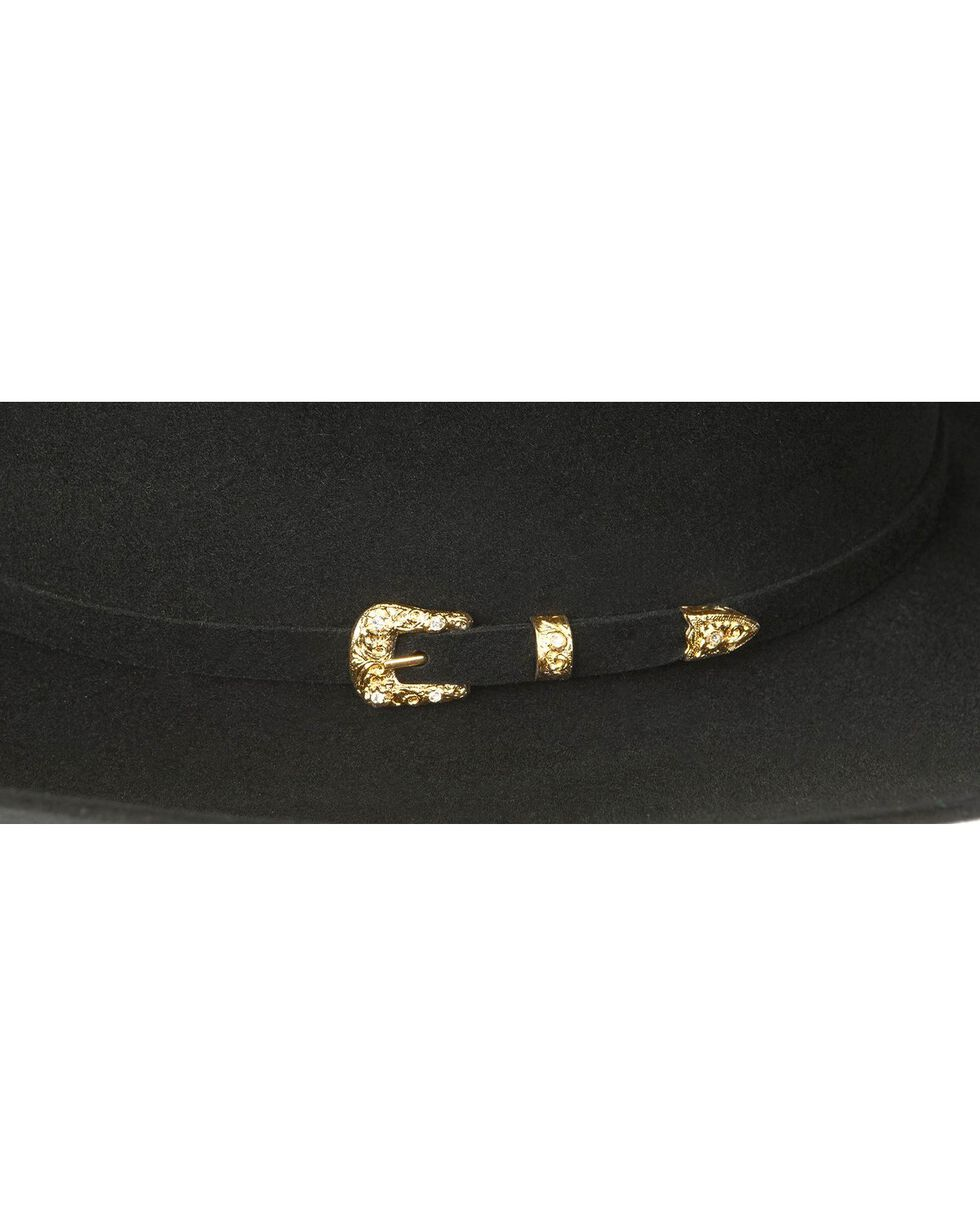 Larry Mahan Black Opulento 30X Fur Felt Western Hat, Black, hi-res