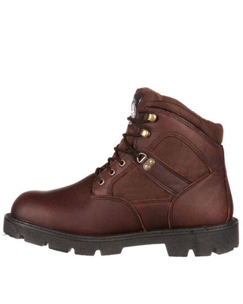 Georgia Boot Men's Homeland Waterproof Work Boots - Soft Toe, Brown, hi-res