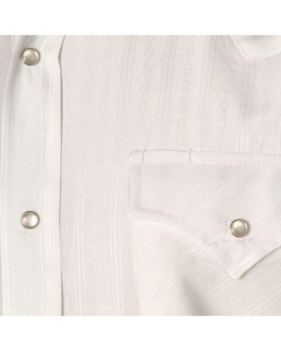 Ely Cattleman Men's Tone On Tone Western Shirt, White, hi-res