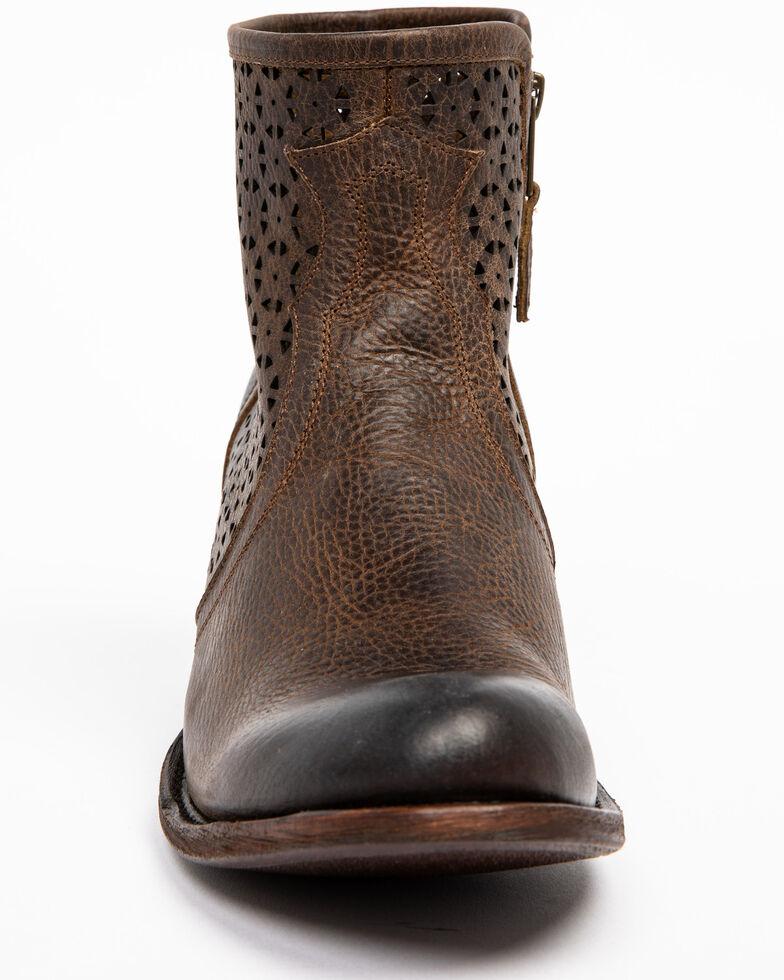Shyanne Women's Collins Western Booties - Round Toe, Brown, hi-res